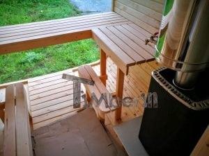 Rectangular wooden outdoor sauna 28