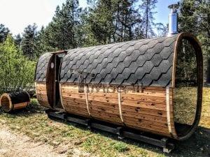 Rectangular wooden outdoor sauna 3 1