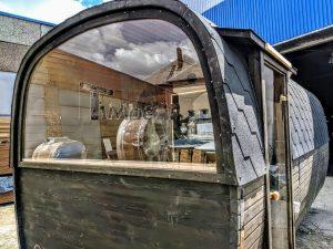 Rectangular wooden outdoor sauna 3 2