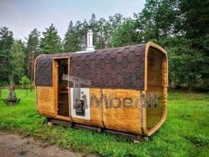 Rectangular wooden outdoor sauna 3