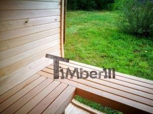 Rectangular wooden outdoor sauna 32