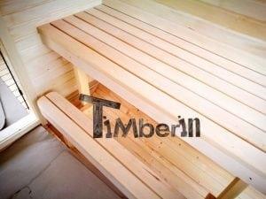 Rectangular wooden outdoor sauna 34