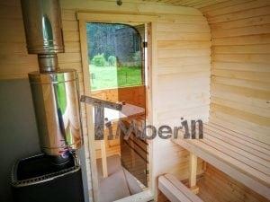 Rectangular wooden outdoor sauna 47