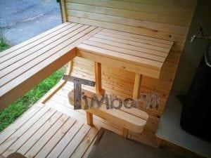Rectangular wooden outdoor sauna 51