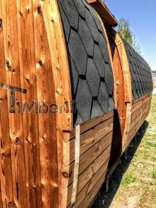 Rectangular wooden outdoor sauna 6 1