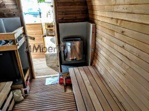 Rectangular wooden outdoor sauna 7 2