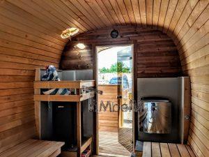 Rectangular wooden outdoor sauna 8 2