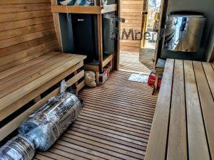 Rectangular wooden outdoor sauna 9 2