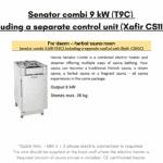 Senator combi 9 kW T9C including a separate control unit Xafir CS110C for rectangular sauna