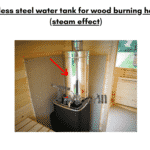 Stainless steel water tank for wood burning heaters steam effect for rectangular sauna