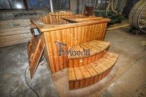 Wood burning hot tub royal square model 10