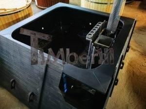 Rectangular hot tub polypropylene lined with snorkel heater 2