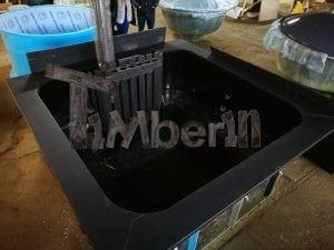 Rectangular hot tub polypropylene lined with snorkel heater 4