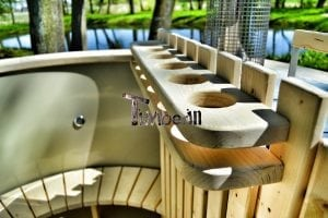 Wood fired hot tub for garden. Includes sand filtration 2 LED and wall insulation 6