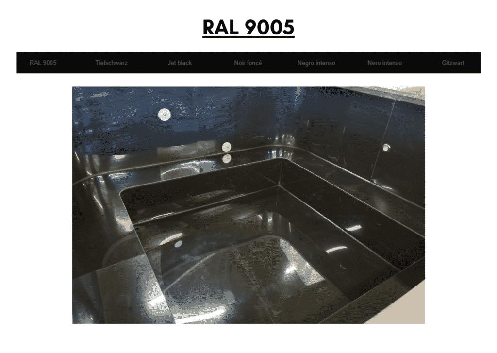 Outdoor garden hot tub jacuzzi with polypropylene liner Black RAL 9005 21