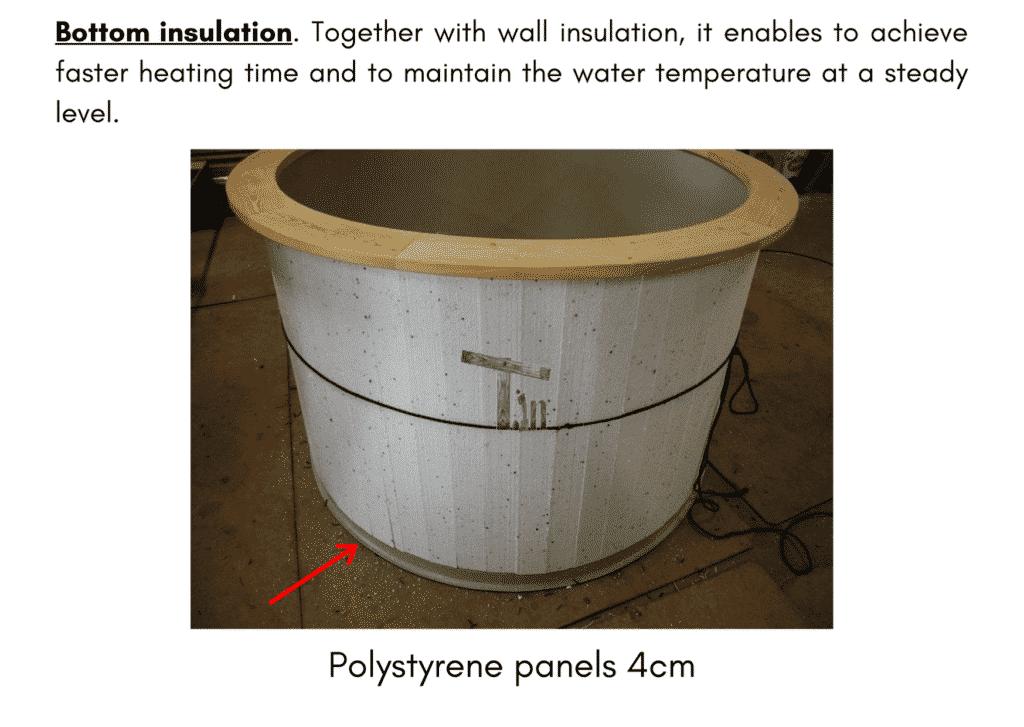 Outdoor garden hot tub jacuzzi with polypropylene liner Bottom insulation 13