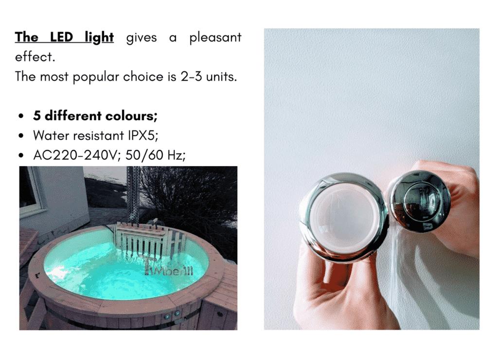 Outdoor garden hot tub jacuzzi with polypropylene liner LED 14
