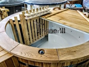 Outdoor spa with polypropylene liner 42 1