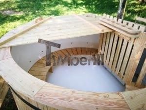 Exterior Hottub plastic lined SET Including Massage 2 LED 44