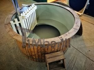 Wood fired hot tub with polypropylene lining Vintage decoration 12