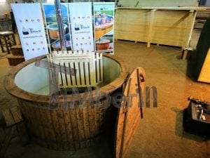 Wood fired hot tub with polypropylene lining Vintage decoration 2
