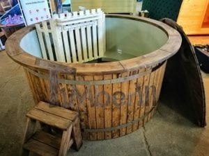 Wood fired hot tub with polypropylene lining Vintage decoration 22