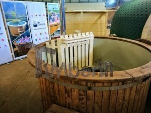 Wood fired hot tub with polypropylene lining Vintage decoration 26