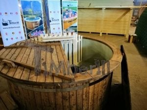 Wood fired hot tub with polypropylene lining Vintage decoration 28