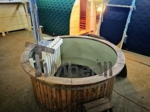 Wood fired hot tub with polypropylene lining Vintage decoration 6