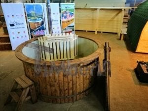 Wood fired hot tub with polypropylene lining Vintage decoration 8