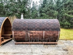 Barrel outdoor sauna 2