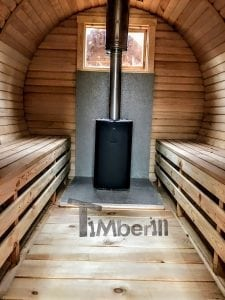 Barrel outdoor sauna 6