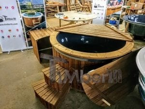 Electric outdoor hot tub Wellness Conical 1