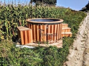 Electric outdoor hot tub Wellness Conical 12 1