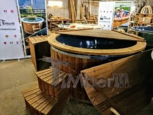 Electric outdoor hot tub Wellness Conical 12