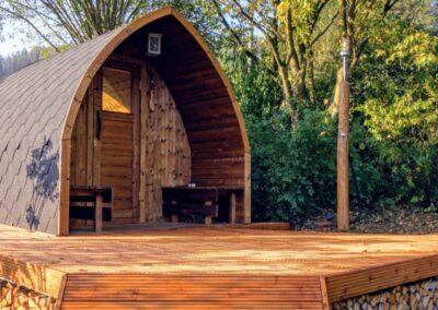 Outdoor saunas
