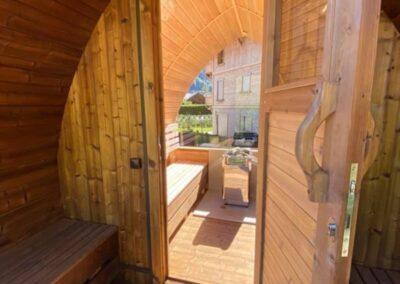 Outdoor saunas for home