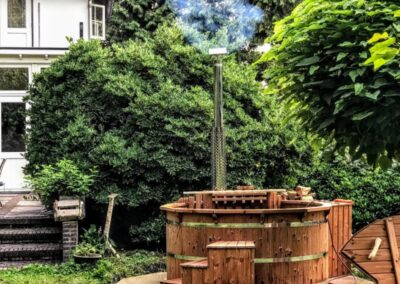 Wooden hot tub thermo wood