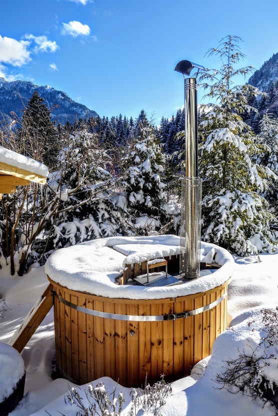 Hot tub winter time