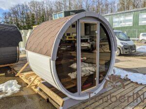 Outdoor sauna small mini for 2 4 persons 15
