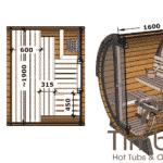 Outdoor sauna small mini for 2 4 persons 2