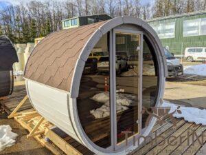 Outdoor sauna small mini for 2 4 persons 21