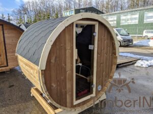 Outdoor sauna small mini for 2 4 persons 29