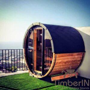 Outdoor sauna small mini for 2 4 persons 36