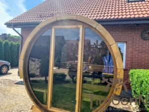 Outdoor sauna small mini for 2 4 persons 37