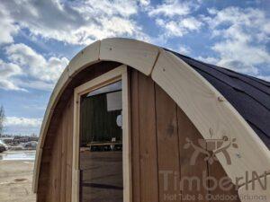 Outdoor sauna small mini for 2 4 persons 44