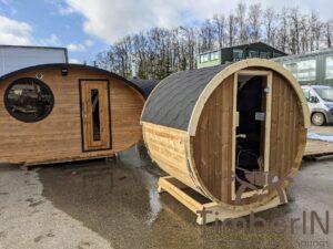 Outdoor sauna small mini for 2 4 persons 46