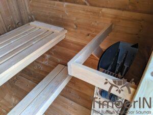 Outdoor sauna small mini for 2 4 persons 5