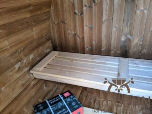 Outdoor sauna small mini for 2 4 persons 6