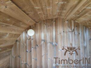 Outdoor sauna small mini for 2 4 persons 7